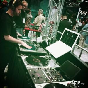 Winter NAMM, Anaheim CA, DJ, Mixing board
